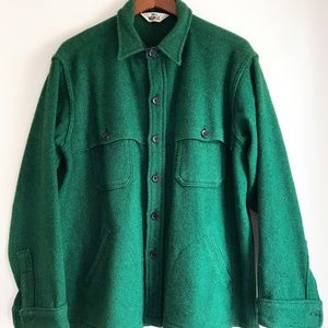 WOOLRICH VINTAGE MENS STAG OVER SHIRT/JACKET XL